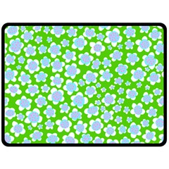 Flower Green Copy Fleece Blanket (Large)