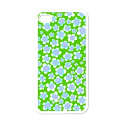 Flower Green Copy Apple iPhone 4 Case (White)