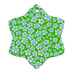 Flower Green Copy Ornament (Snowflake)