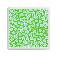 Flower Green Copy Memory Card Reader (Square)