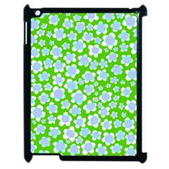 Flower Green Copy Apple iPad 2 Case (Black)