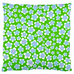 Flower Green Copy Large Cushion Case (Two Sides)