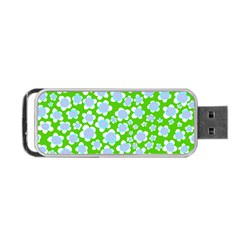Flower Green Copy Portable USB Flash (Two Sides)
