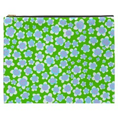 Flower Green Copy Cosmetic Bag (XXXL)