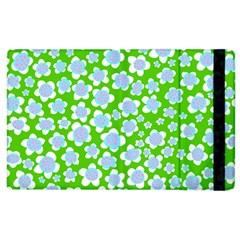 Flower Green Copy Apple iPad 3/4 Flip Case