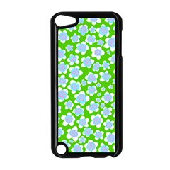 Flower Green Copy Apple iPod Touch 5 Case (Black)