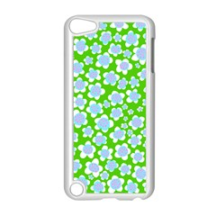 Flower Green Copy Apple iPod Touch 5 Case (White)