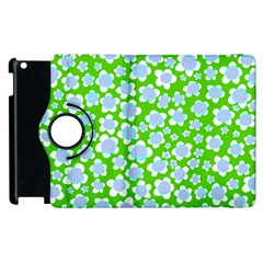 Flower Green Copy Apple iPad 3/4 Flip 360 Case
