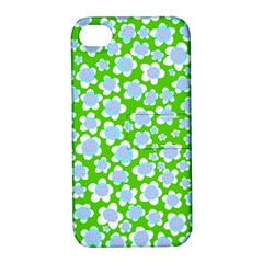 Flower Green Copy Apple iPhone 4/4S Hardshell Case with Stand