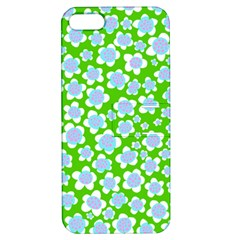Flower Green Copy Apple iPhone 5 Hardshell Case with Stand