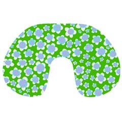 Flower Green Copy Travel Neck Pillows