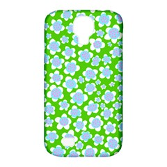 Flower Green Copy Samsung Galaxy S4 Classic Hardshell Case (PC+Silicone)