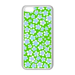 Flower Green Copy Apple iPhone 5C Seamless Case (White)
