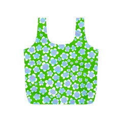 Flower Green Copy Full Print Recycle Bags (S)