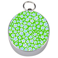 Flower Green Copy Silver Compasses