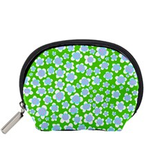 Flower Green Copy Accessory Pouches (Small)