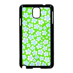 Flower Green Copy Samsung Galaxy Note 3 Neo Hardshell Case (Black)