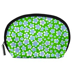Flower Green Copy Accessory Pouches (Large)