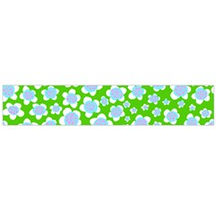 Flower Green Copy Flano Scarf (Large)