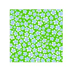 Flower Green Copy Small Satin Scarf (Square)