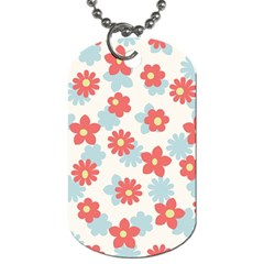 Flower Pink Dog Tag (Two Sides)