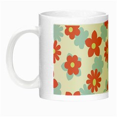 Flower Pink Night Luminous Mugs
