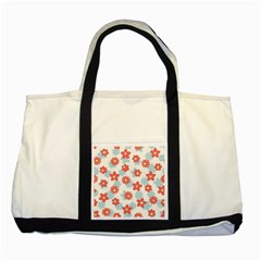Flower Pink Two Tone Tote Bag