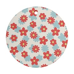 Flower Pink Round Ornament (Two Sides)