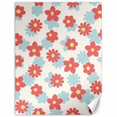 Flower Pink Canvas 12  x 16