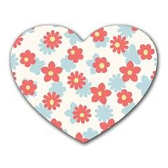Flower Pink Heart Mousepads