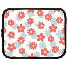 Flower Pink Netbook Case (Large)