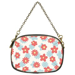 Flower Pink Chain Purses (Two Sides)