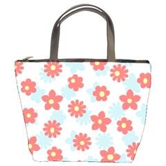 Flower Pink Bucket Bags