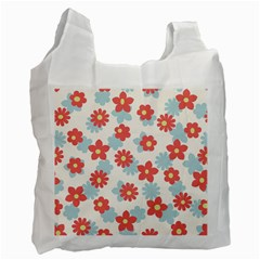 Flower Pink Recycle Bag (Two Side)