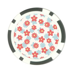 Flower Pink Poker Chip Card Guards (10 pack)