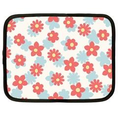 Flower Pink Netbook Case (XL)