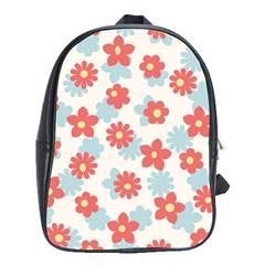 Flower Pink School Bags(Large)