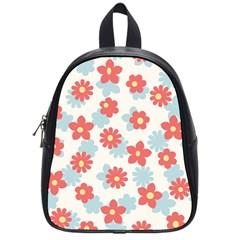 Flower Pink School Bags (Small)