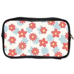 Flower Pink Toiletries Bags 2-Side