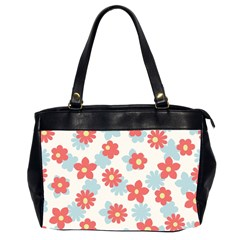 Flower Pink Office Handbags (2 Sides)