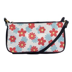 Flower Pink Shoulder Clutch Bags