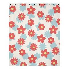 Flower Pink Shower Curtain 60  x 72  (Medium)