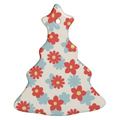 Flower Pink Christmas Tree Ornament (2 Sides)