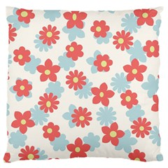 Flower Pink Large Cushion Case (One Side)