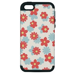 Flower Pink Apple iPhone 5 Hardshell Case (PC+Silicone)