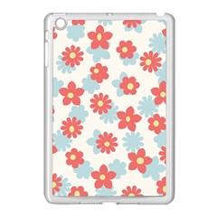 Flower Pink Apple iPad Mini Case (White)