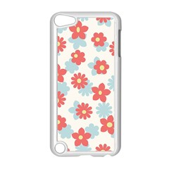 Flower Pink Apple iPod Touch 5 Case (White)