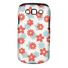 Flower Pink Samsung Galaxy S III Classic Hardshell Case (PC+Silicone)