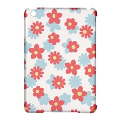 Flower Pink Apple iPad Mini Hardshell Case (Compatible with Smart Cover)