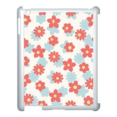 Flower Pink Apple iPad 3/4 Case (White)